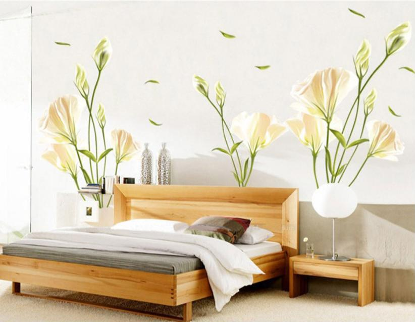 Super deal lily diy removable wall stickers art stickers for Super cheap home decor