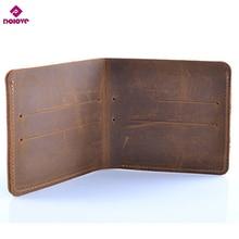 DOLOVE 100% Genuine Leather Small Mini Ultra-thin Wallets men