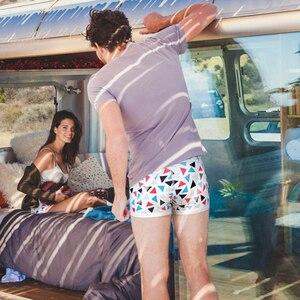 Image 3 - แพ็ค 4 ชิ้น/Lot Pink HERO แฟชั่นบุรุษนักมวยผ้าฝ้ายผู้ชายชุดชั้นใน U Exquisit กางเกงขาสั้นชาย Homme Cueca นักมวย hombre ที่มีสีสัน