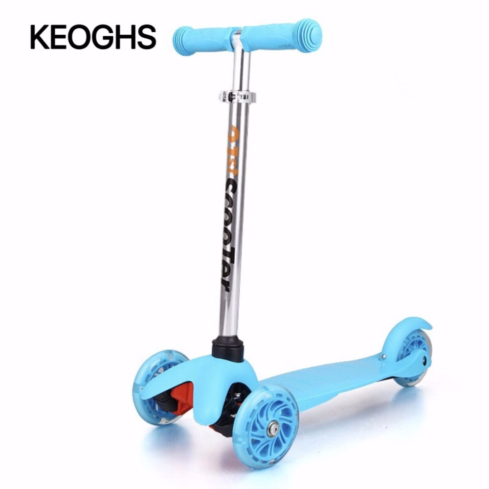 Children's kick scooter baby kid PU 3wheels LED outdoor sport - Cycling