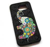 Colorful Retro Flower Elephant Case Cover, Case For Samsung Galaxy S5 S6 S7 S8 S8 Plus