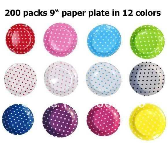 You pick up colors 23cm/9inch diameter Premium glossy quality Polka Dot Polkadot Spotty Party  sc 1 st  AliExpress.com & You pick up colors 23cm/9inch diameter Premium glossy quality Polka ...