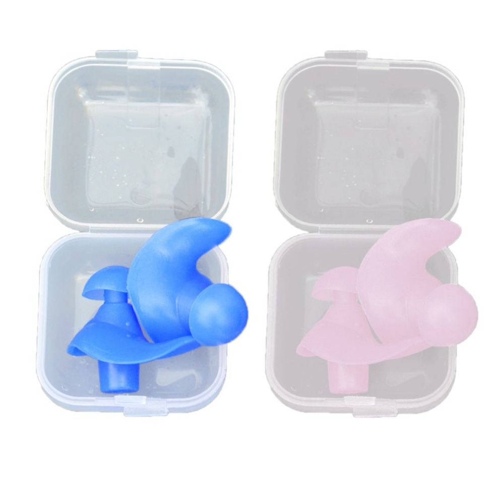 1 Pair Waterproof Swimming Earplugs Professional Silicone Swim Earplugs Soft Anti-Noise Ear Plug For Adult Children Swimmers