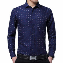 Zogaa Men Bussiness Shirt Long Sleeved Solid Floral Printing Plaid Casual Male Shirts Brand Clothing 10 Colors Dress Man