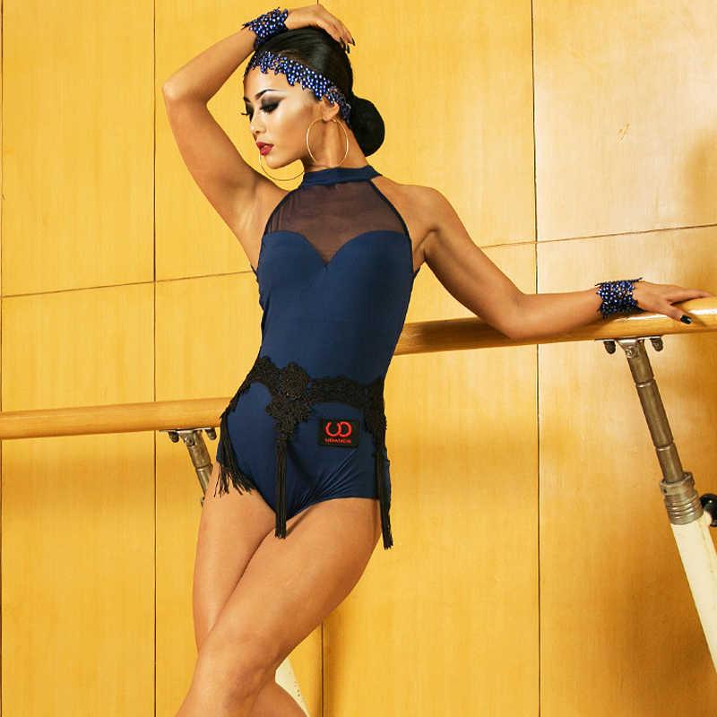 2130ec4893 Latin Performance Dance Bodysuit Tops Costume Sexy Chacha Female Women  Practice Wear Clothing Tango Danecing Tops