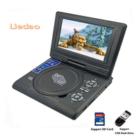 Liedao 7 8inch Portable DVD Player Digital Multimedia Rechargerable Player With Game FM Radio TV AV