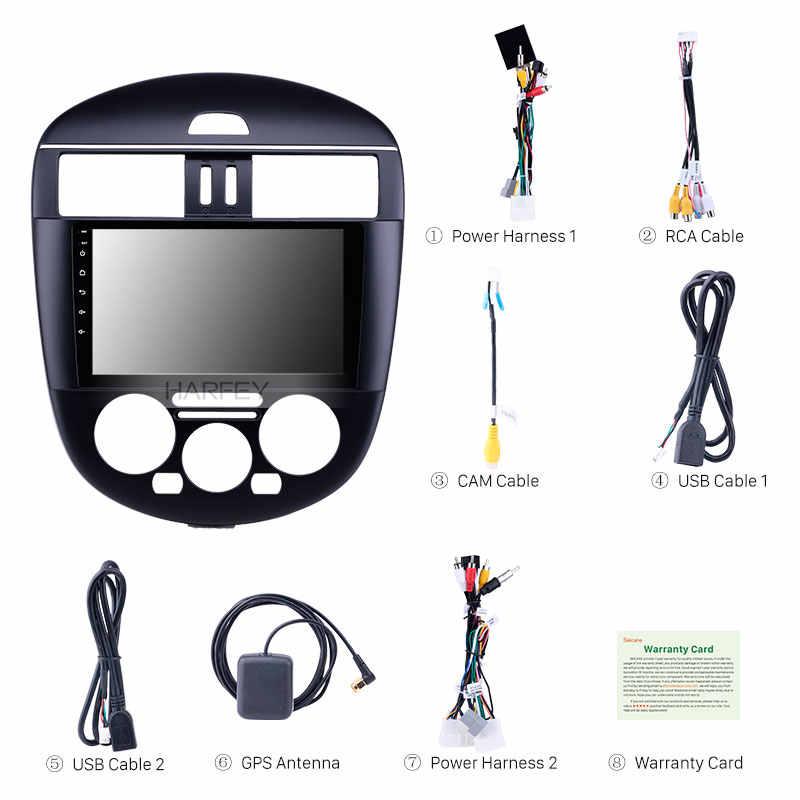 Harfey 9 インチのアンドロイド 8.1 のための 2011-2014 日産ティーダマニュアル A/C GPS 車ラジオ hd タッチスクリーンサポート Carplay デジタルテレビ