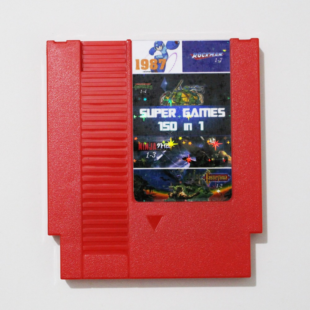 New Arrival! Super Game <font><b>150</b></font> In <font><b>1</b></font> <font><b>Rockman</b></font> <font><b>1</b></font>/<font><b>2</b></font>/<font><b>3</b></font>/<font><b>4</b></font>/<font><b>5</b></font>/<font><b>6</b></font> Game Card with Sparkling Sticker For 72 Pin 8 Bit Game Player image