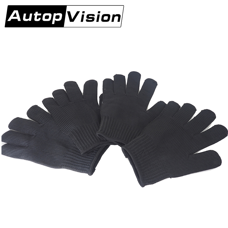 FG-STM 10 Pair  Bicycle Motorcycle Gym Garden Cut Grass Gloves Carpenter House Thicker Stainless Steel Full Finger Gloves