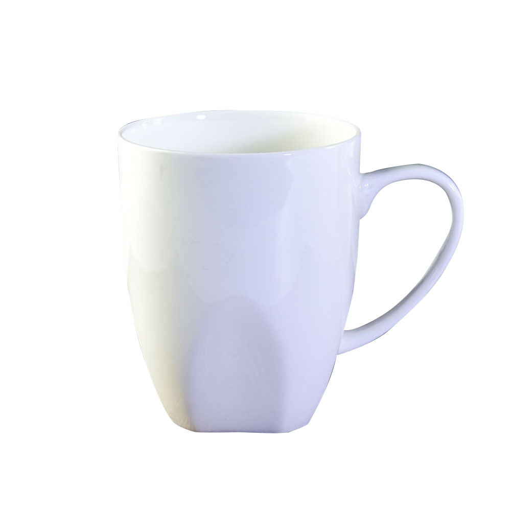 1pc Pure White Bone China Mug Cappuccino Juice Coffee Milk Mug Drinking Cup Gift for Christmas Birthday Valentine Anniversary