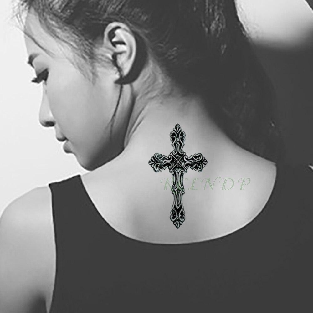 Aliexpress Com Comprar Impermeable Tatuaje Temporal Pegatinas Cruz