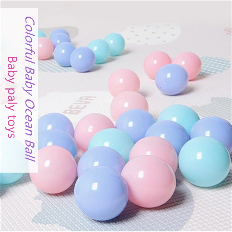 100Pcs/Set Eco-Friendly Macaron Colors Ball Baby Bathtub Play Balls Soft Plastic Ocean Balls Kid Swim Pool Ocean Wave Ball