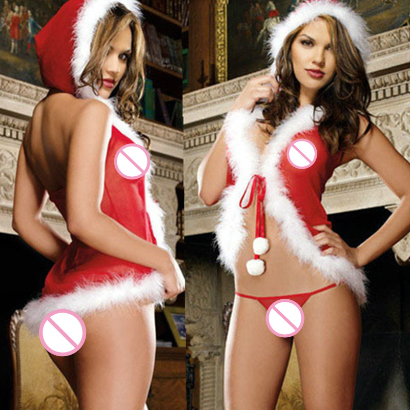 Woman Christmas Lingerie Sexy Santa Claus Costume Cosplay Babydoll Nightwear Underwear Erotic Lingerie For Women Sexy Uniform