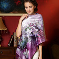 Autumn And Winter High-end Gift Box High-grade Real Silk Scarf Shawl Double Warm Silk Scarves