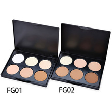 6 color Professional Bronzers Highlighters pallete Glow Kit Powder Face Highlighter Bronzer Contour Palette Powder Palette set