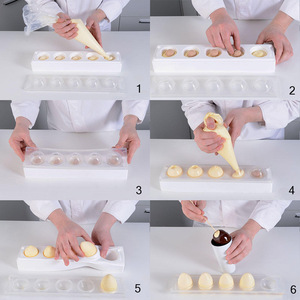 Image 5 - 1 Set Silicone Mold 3D Egg Shape Mould For Cake Decorating Tools Easter Eggs Chocolate Truffle Mousse Monoportions Mold