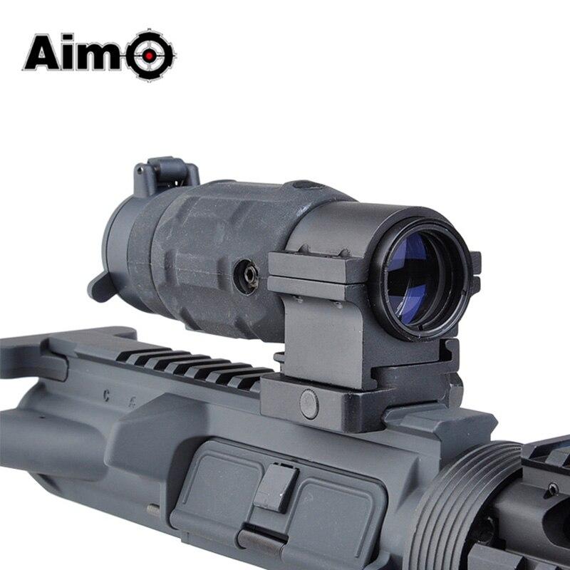 Aim-O Airsoft Tactical Hunting Scope AP Style 3X Magnifier With QD Twist Mount Gun Softair Sight AO5339