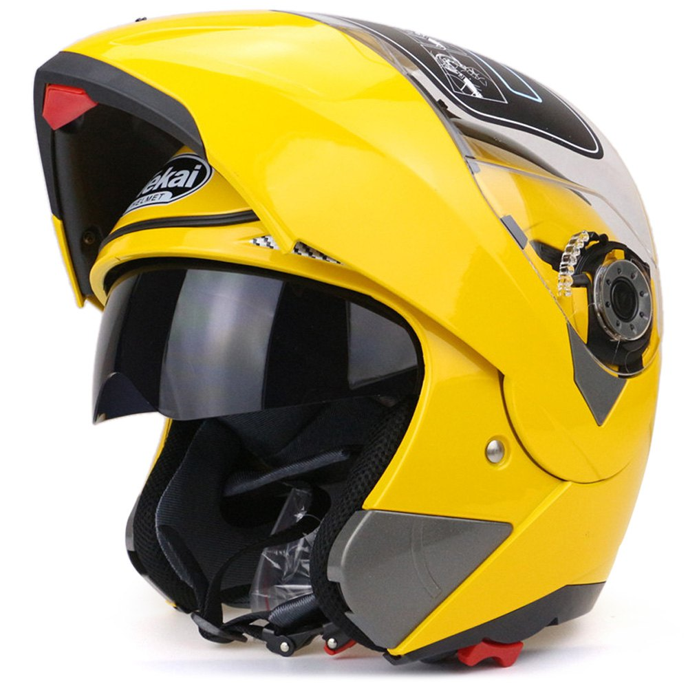 032c0aef On Sale Motorcycle Helmet Full Face Dual Visor Street Bike with Transparent  Shield Hot Pressure Sponge Liner with ABS Material-in Helmets from  Automobiles ...