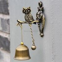 Piccolo Gufo Campanelli Eolici Retrò In Metallo Vento Campane Decorazioni Hanging Animale Appeso Decor Campanello Ornamento Bambini Regali 11 cm
