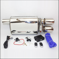 Universal Stainless Steel 2.5 3 inches Exhaust Pipe Electric Pipe Exhaust Electrical Cutout with Remote Control Wholesale Valve
