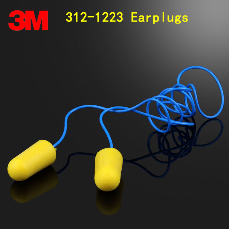 3M 312-1223 Protection earplugs Genuine security 3M ear plugs for noise With lines bullet Anti noise Sleep Learn ear plug soundproof earplugs 3m soft foam earmuffs anti noise earplug ear protector hearing protection peltor ear plugs for sleep