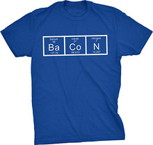 GILDAN Mens The Chemistry Of Bacon T Shirt Funny Periodic Table Tee