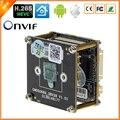 BESDER H.265/4MP H.264 IP Camera Módulo Board HI3516D + 1/3 ''OV4689 CMOS ONVIF DWDR CCTV Módulo Extra acessórios Opcionais