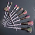 10 p Fio de Cabelo Unicórnio Do Arco Íris Makeup Brushes Set Professional Suave Cosméticos Foundation Pincel Sombra Make up kwaste Escova