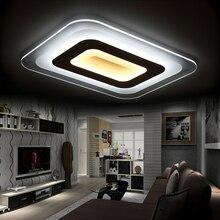 Ультра-тонкий Затемняя современный светодиодный потолочный светильник гостиной огни licht акриловые декоративные абажур потолочный светильник lamparas де techo