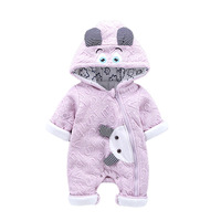 2018 New Baby Conjoined Clothes Baby Clothes Warm Baby Climb Winter Clothes Baby Rompers