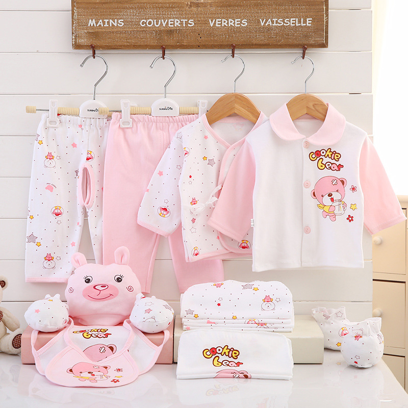 b21b589edb35e 17PCS Newborn Baby Clothes Sets Infants Girls Boys 100% Cotton Cute Underwear  Clothing Suit Outfits Baby Set Clothes-in Clothing Sets from Mother & Kids