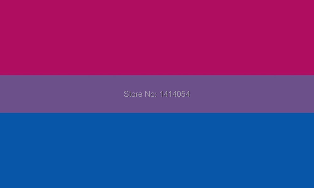 <font><b>Bisexual</b></font> <font><b>Pride</b></font> <font><b>Flag</b></font> Set of 4 Temporary Tattoos 150X90CM 3X5FT Banner 100D Polyester grommets custom009, free shipping image