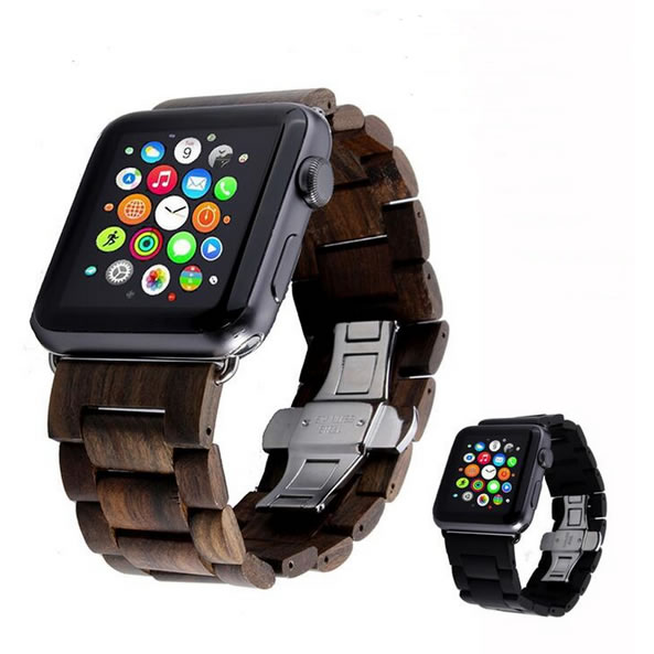 Wrist Strap For Apple Seires Watch Band Real Wood Handmade Watch Straps For Apple Watch Series 1 2 3 iWatch Watchbands 38mm-42mm watch bracelet for apple watch seires genuine leather strap for herm apple watch band series 1 2 3 iwatch 38 42mm watchbands