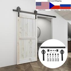 4.9FT/6FT/6.6FT Black Carbon staal Grote hanger roller interieur schuifdeuren schuur deur hardware