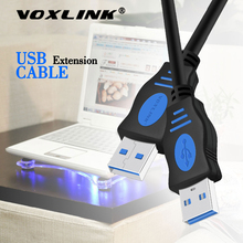 цены на VOXLINK USB to USB Extension Cable USB 2.0 Male to Male Extend Cable External hard drive cable Adapter For Radiator Hard Disk  в интернет-магазинах
