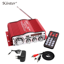 лучшая цена Kinter MA-800 Audio Amplifier 2 channel 25W DC12V 3A Adapter RCA cable SD USB input FM radio play stereo sound use in home ca