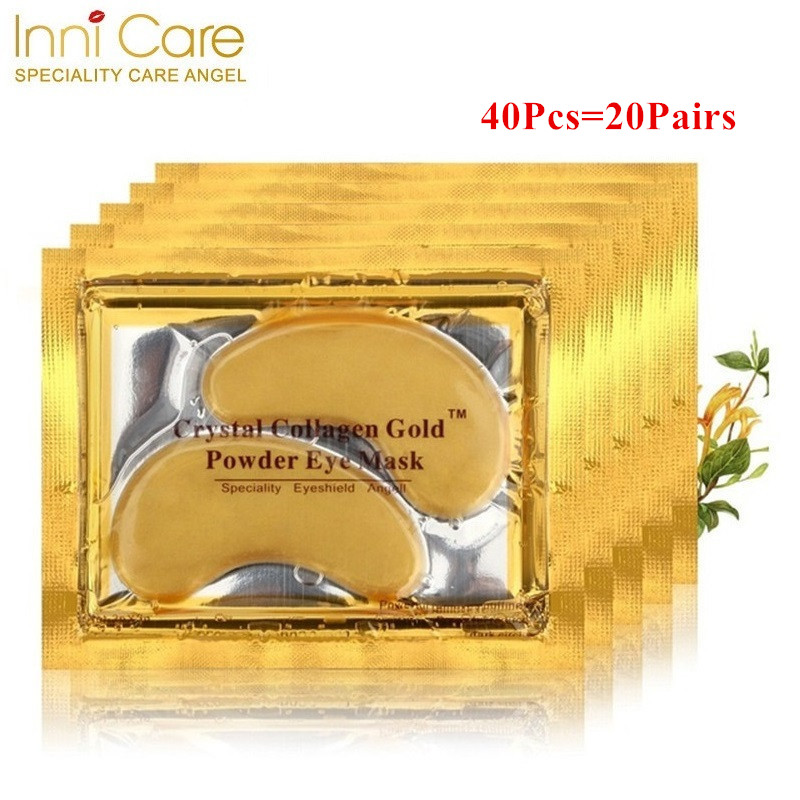 40pcs=20Pairs Beauty Gold Crystal Collagen Eye Mask Eye Patches Moisture Eye Mask Anti-Aging Face Care Skin Care Eye Patches mike davis knight s microsoft business intelligence 24 hour trainer