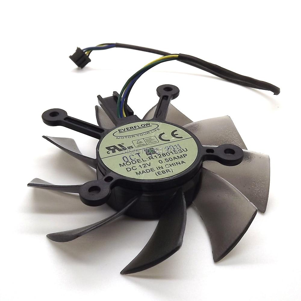 R128015SU DC 12 V 0.50AMP 4Pin 4 Draad PWM 75mm Koelventilatoren Voor - Computer componenten - Foto 3
