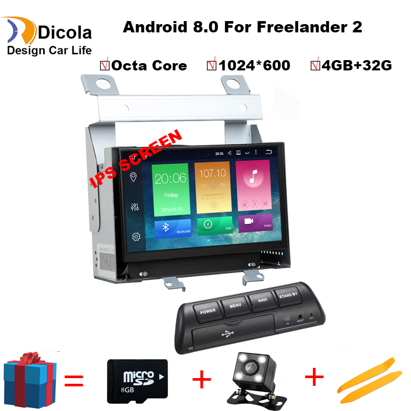 Octa core font b Android b font 8 0 Car DVD Player for Land Rover Freelander