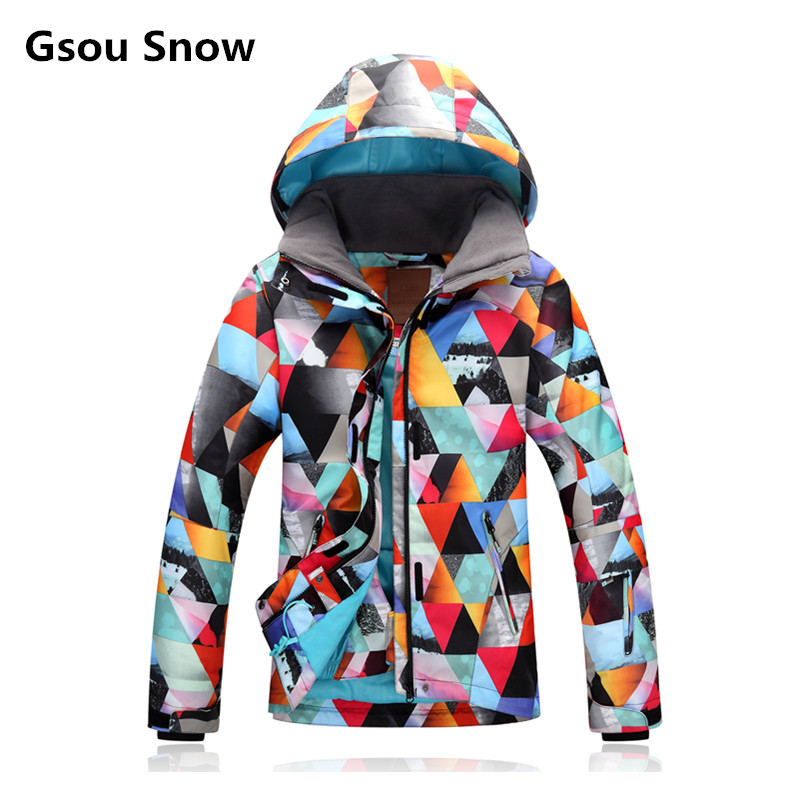 Gsou Snow Winter Insulated Snow Ski Snowboard Jacket Coat Women Warm Skiing Wear Chaqueta Nieve Mujer Veste Ski Femme large format printer spare parts wit color mutoh lecai locor xenons block slider qeh20ca linear guide slider 1pc