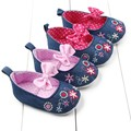 Lastest Infant Baby Girls Flower Bowknot Soft Sole Crib Shoes Anti-slip Prewalkers 0-12M CY1