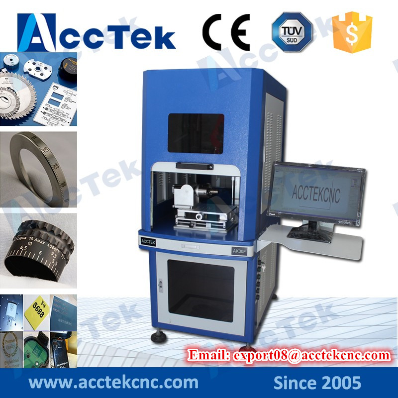 acctek <font><b>20W</b></font> fiber <font><b>laser</b></font> <font><b>cnc</b></font> <font><b>laser</b></font> marking machine with full enclosed structure image
