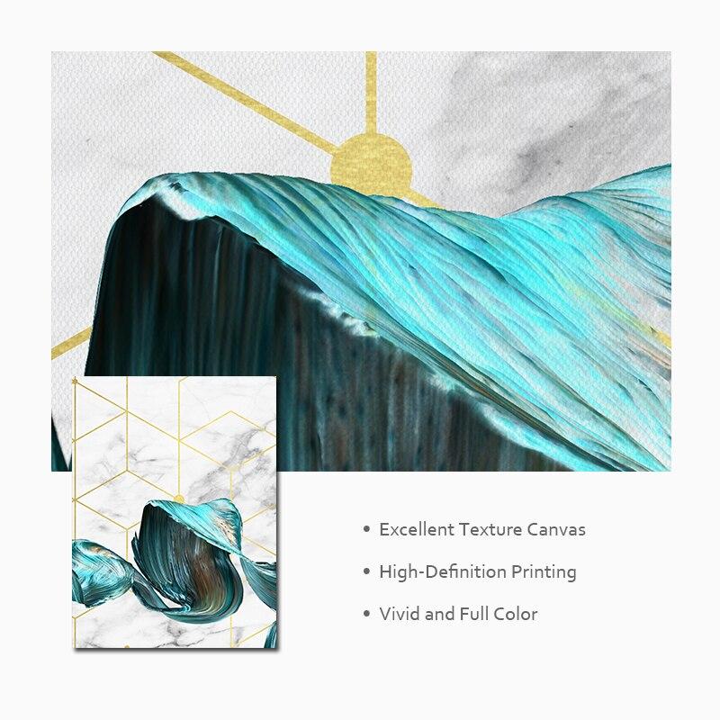 Nordic Geometric Wall Art Canvas Painting Abstract Blue Fabric Poster Print Modern Minimalist Picture for Living Nordic Geometric Wall Art Canvas Painting Abstract Blue Fabric Poster Print Modern Minimalist Picture for Living Room Home Decor