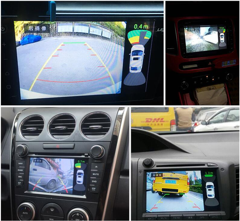 8 Video Parking Sensor Car Vehicle Reverse Backup Radar System with Front Rear Camera Parking System alarm remote control
