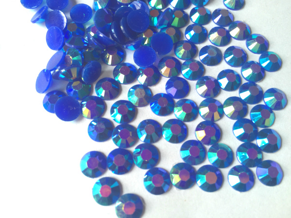 5mm Jelly Blue AB Color SS20 crystal Resin rhinestones flatback,Nail Art Rhinestones,30,000pcs/bag