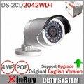 Original DS-2CD2042WD-I 4MP Resoultion Alto 120db WDR Full HD POE IP IR Câmera de Rede Bala CCTV Versão Em Inglês