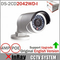 Original DS-2CD2042WD-I Full HD 4MP High Resoultion 120db WDR POE IR IP Bullet Network CCTV Camera English Version