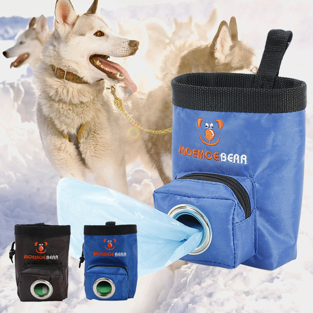 Multi-purpose Waist Bag with Poop Bag Dispenser  For Feeding and Carrying Training Treats