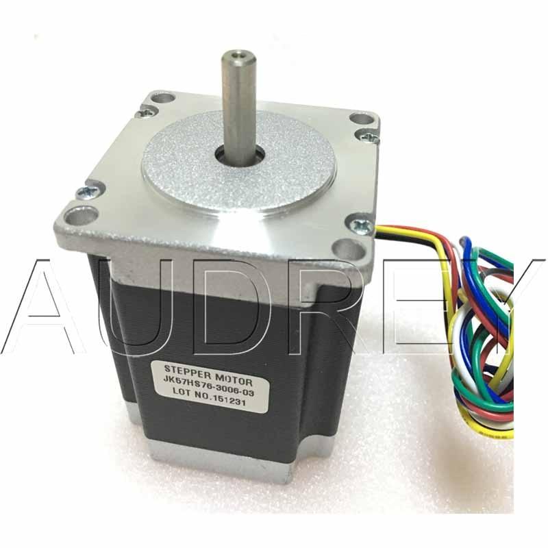 57BYGH633 1.8deg 57mm 2phase NEMA23 square hybrid stepper motor 57HS76-3006 3V 3A 6-wire 1.35 N.m length 76mm 3D Laser printer 57hs82 3004 24v 57mm 3a nema23 57bygh 2 phase big square hybrid stepper motor