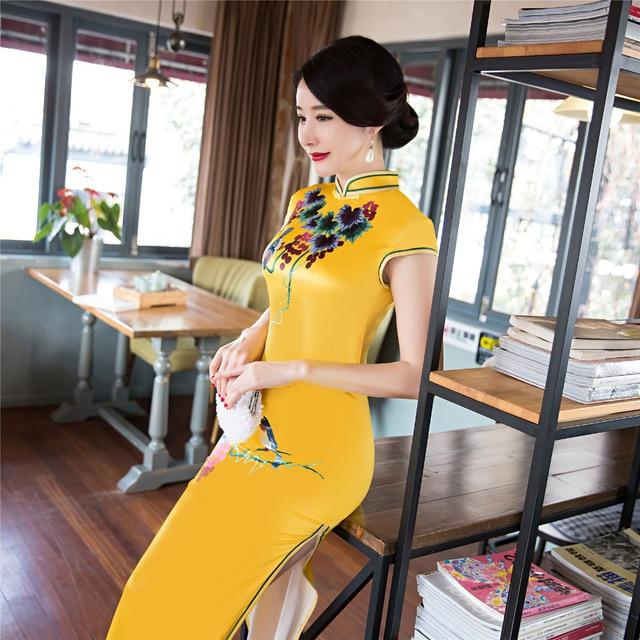 Moderne partei chinesischen traditionellen kleid cheongsam ...